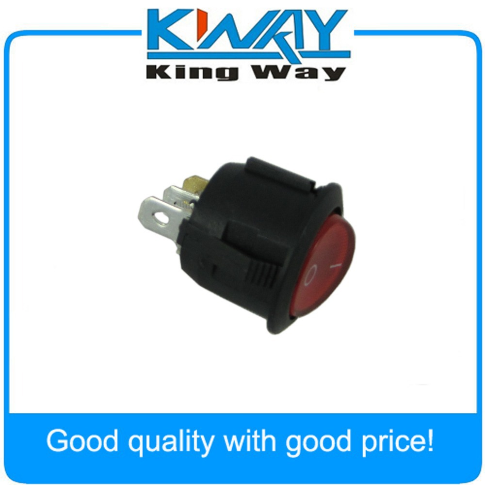 US $0.99 |Red Light Round On/off Rocker Switch 250V 15 AMP 125/20A on