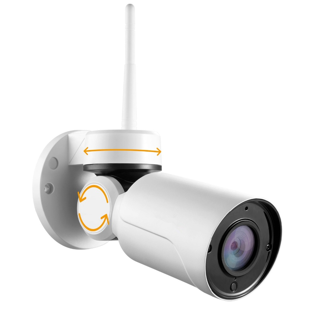 SavvyPixel 960P HD Wireless Security Surveillance Outdoor PT Camera with Audio, Pan/Tilt Remote Control, Built-in Microphone
