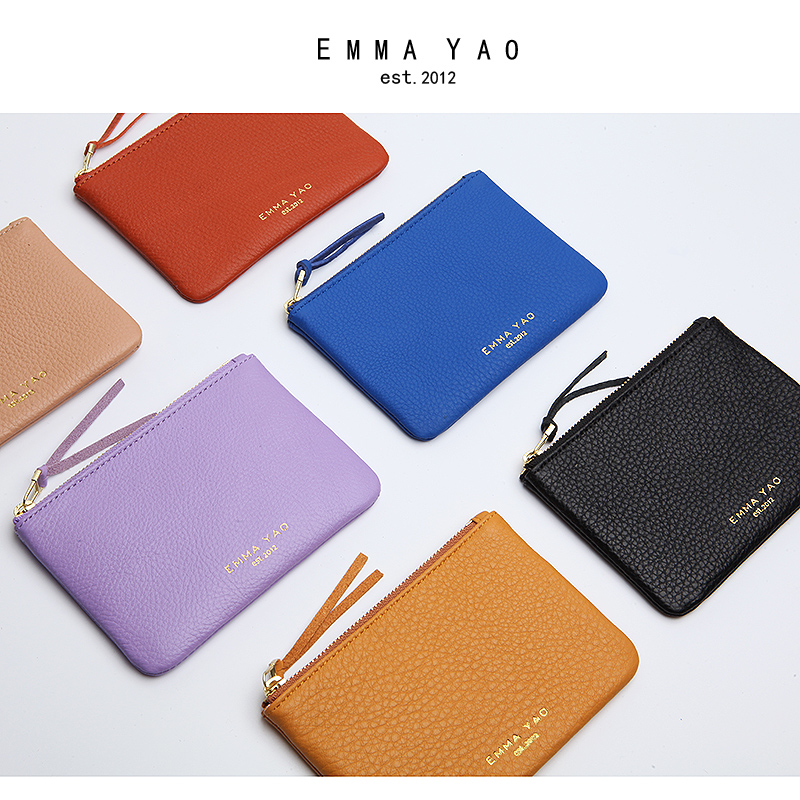 Emma YAO women's leather wallet case mini wallet card holder hot sales coin purses & holders protective pc back cover case for iphone se 5s 5 anti scratch