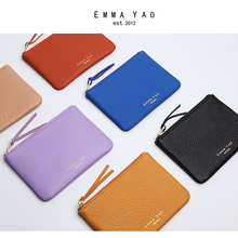 Emma YAO womens leather wallet case mini card holder hot sales coin purses & holders