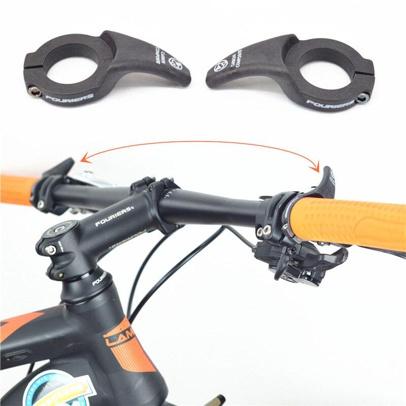 1 pair Carbon Fiber Bicycle Handlebar Bar Ends MTB Bike Bar End Bicicleta bar