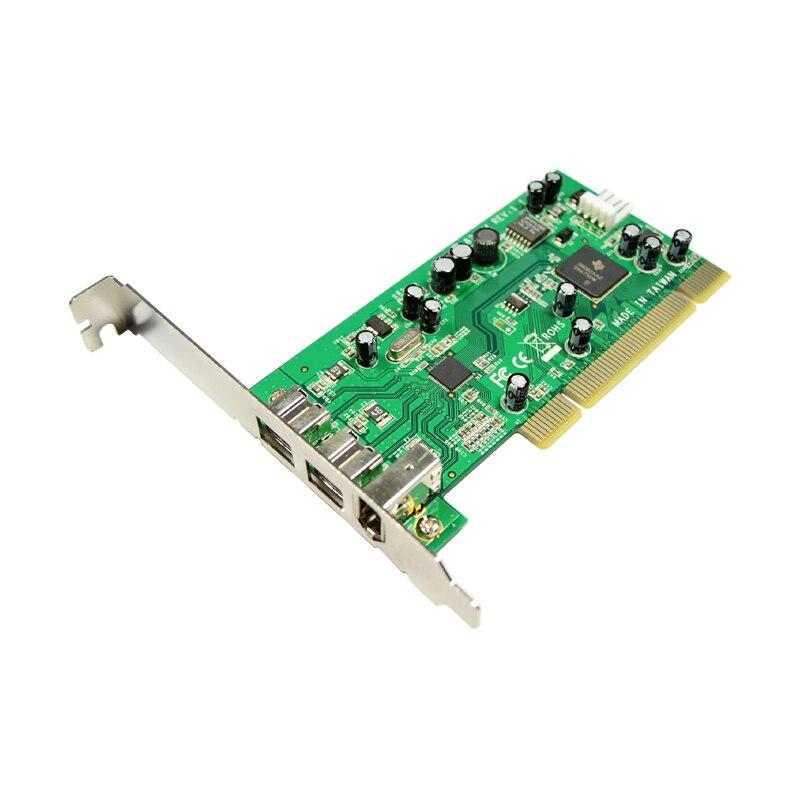 IOCREST PCI Combo 2x 1394b + 1x 1394a Ports Firewire carte contrôleur PCI carte 1394 carte TI Chipset