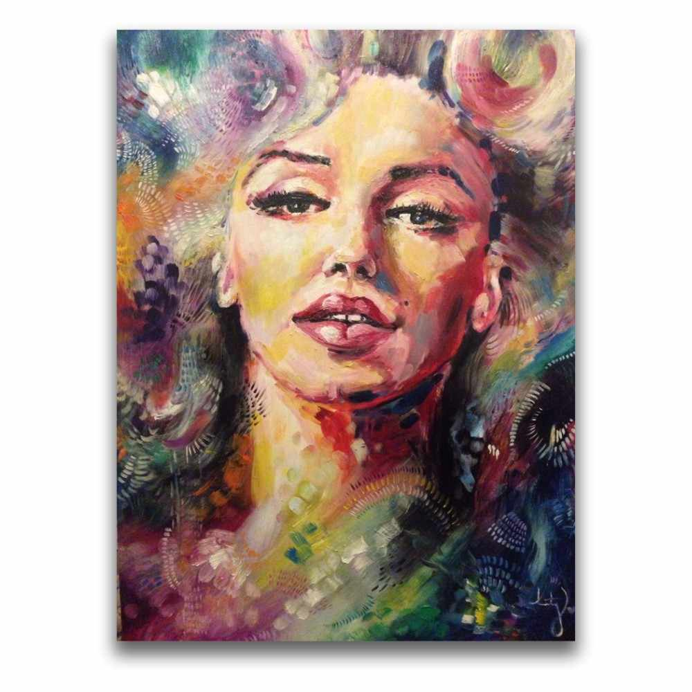 Sexy Lippen Lady Julia Mensen Olieverf Gratis Verzending Hoge Kwaliteit Foto Kunst Voor Home Decor