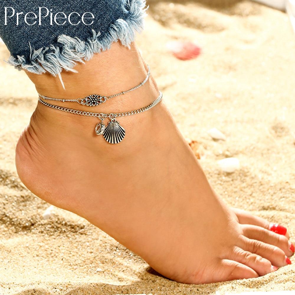 Trendy Daily News: Aliexpress.com : Buy PrePiece Alloy Flower Anklet Retro
