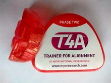 Стоматологический ортодонтический зубной тренажер/Myobrace T4A, фаза 2, тренажер для выравнивания/MRC, ортодонтический тренажер T4A, красный