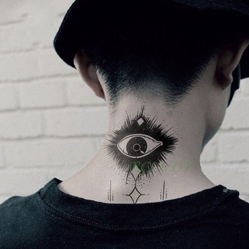 Waterproof Temporary Tattoo Sticker Eye Fake Tatto Flash Tatoo hand foot shoulder back neck  tatouage for Girl Men Women femme