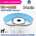 2 refill rolls brother kompatibel dk-44605 label 62mm * 30,48 mt blau color kompatibel für etikettendrucker ql-570/700/720 dk-4605