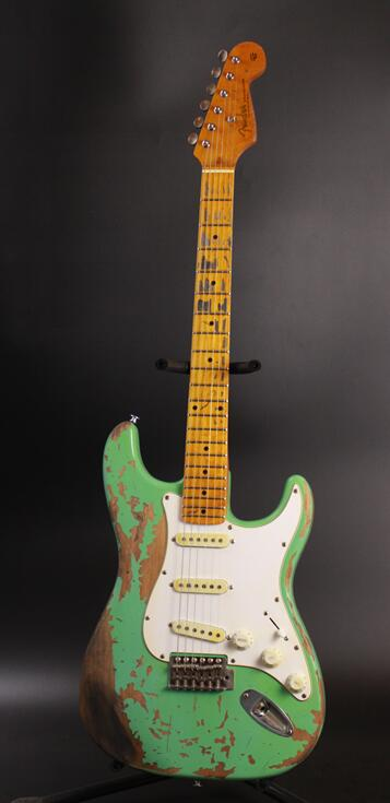 New Favorite Surf green 100% handmade Relic ST  electric guitar alder body  Aged hardware profession Do Relic guitars  недорого
