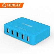 ORICO 5 порты и разъёмы в/2.4A 40 Вт настольное зарядное usb-устройство Micro USB перезарядник для телефона Pad Универсальные наушники