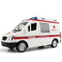Scientific And Educational Ambulance Toy Whose Doors Have To Be Opened Manually With Sound And Light