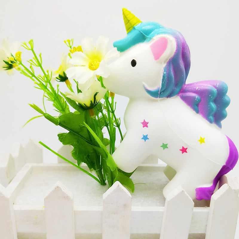 Единорог Мягкие и милые животных мягкими замедлить рост антистрессовые игрушки Ароматические стрейч Squeeze Новинка игрушечные лошадки дети Squishies
