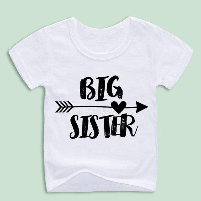 302b36e4 New Arrival,Children's Cute Big Sister Funny Print Tshirts Summer Boy and  Girl Fashion Tops Tee Kids Kawaii T-shirts,Size 3T~8T