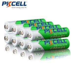 Image 5 - Promoção pkcell 50 pçs/lote 1.2 v 600 mah aaa nimh bateria recarregável ni mh baixo auto descarregado pré carregado baterias