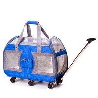 Beasumore складной портативный Pet Многофункциональный портативный прокатки Чемодан Spinner дорожная сумка с колесиками для переноски на чемодан н