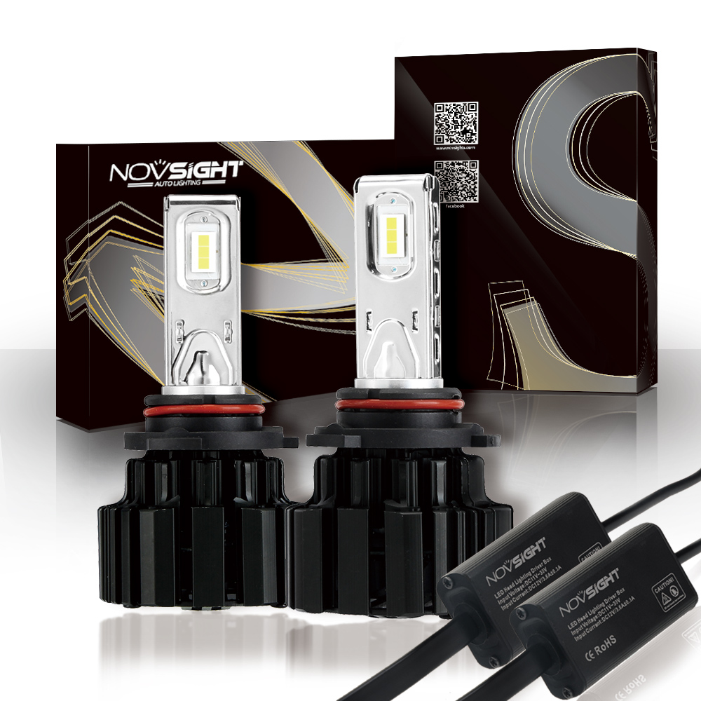 NOVSIGHT 9006 HB4 40~43W 6800LM Car LED Headlight Fog Light Lamps Bulbs Super White Play and Plug Headlights 6000K Free Shipping new 2016 2pcs xml2 car led 12 24v 2000lm car lamps headlights fog light h7 h11 h8 hb3 hb4 9005 9006 free shipping