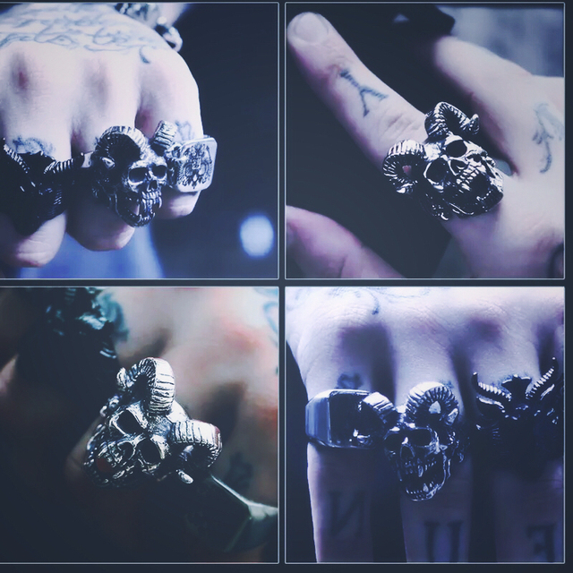 GOAT HEAD SKULL RINGS