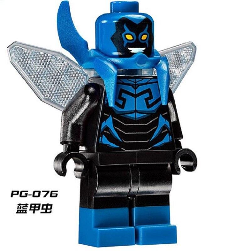 Pg076 Blue Beetle Building Blocks Super Hero Villains Beast Boy The