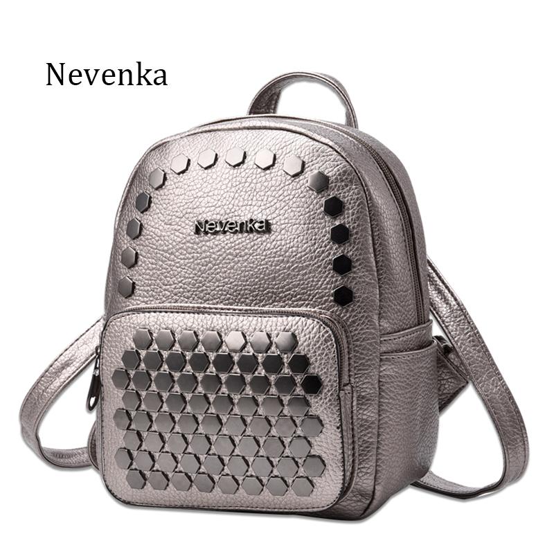 Prix pour Nevenka Mode Femmes Sac École Lady Sac À Dos En Cuir PU Sacs D'épaule de L'élève Sac Occasionnel Femelle Dos Poche Sacs Sac