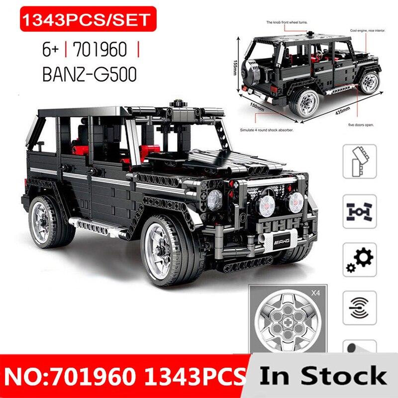 1343 pièces RC Technic 20100 MOC 2425 SUV G500 AWD véhicules ensembles de voiture blocs de construction jouets cadeau pour les enfants Compatible avec avec lavant