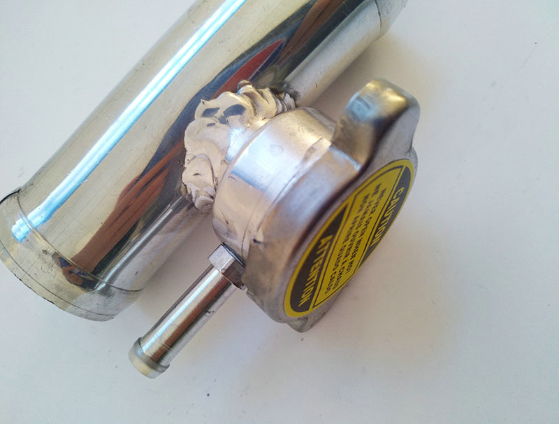 "Billet Aluminum Coolant pressure cap 32mm ID 1.25/"" Anodized black"