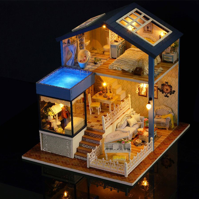 Toys & Hobbies Dolls & Stuffed Toys Fashion Style Hot New T-yu Ty1 Ultima Thule Diy Dollhouse With Light Miniature Model Gift Collection Beautiful Decor Toy