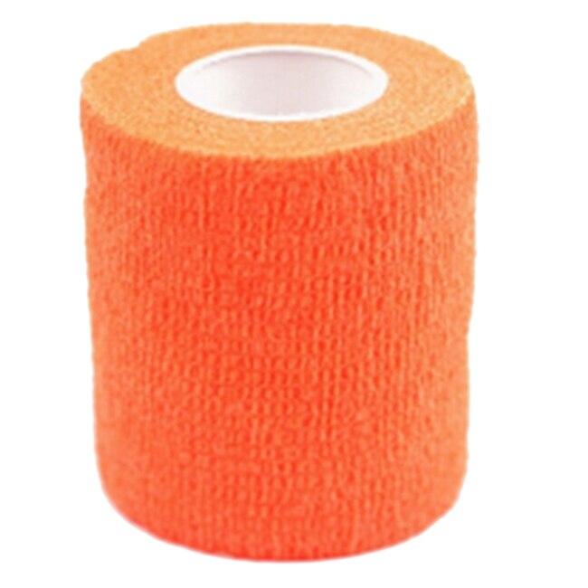 Горячая 1 рулон кинезиологии спортивные здоровья мышцы уход Physio терапевтическая лента 4,5 м * 5 см, оранжевый