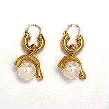 2019 Temperament Simple Copper Genuine Gold Removable Earring Kolczyki Kupe Joyas Jewellery