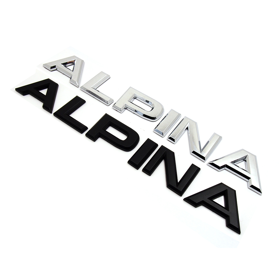 alpina letter trunk rear emblem decal sticker for bmw e46. Black Bedroom Furniture Sets. Home Design Ideas