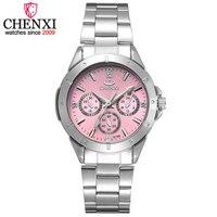 Marca de luxo superior chenxi relógios femininos relógios de aço inoxidável das mulheres relógios de quartzo dames horloge relogio feminino hodinky|Relógios femininos| |  -