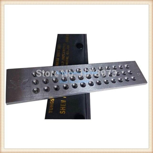 Livraison gratuite trou taille 5.10-7.00mm rond carbure de tungstène tirettes 20 trous bijoux dessiner des plaques