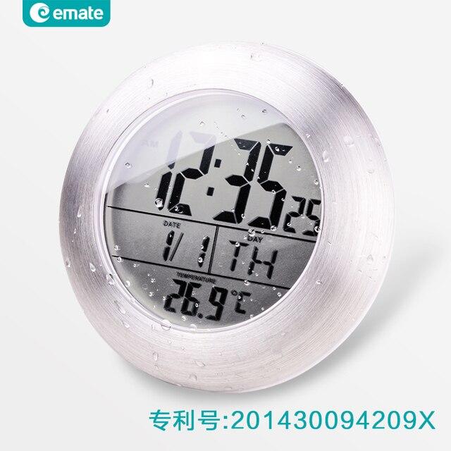 LED Numérique étanche Salle De Bains électrique Horloge Murale Moderne  Design En Métal Cas Montre Mur