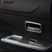 Для Mitsubishi ASX 2011 2012 2014 2013 2015 салонные аксессуары ABS Матовый дверные ручки крышки планки защиты автомобиля Стикеры