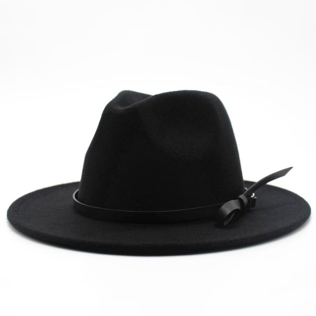 Wool Jazz Hat - Large Brim Fedora 2