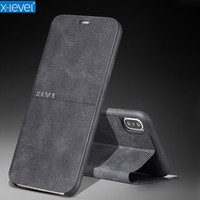 For IPhoneX X Level Extreme Luxury Retro PU Leather Case For Apple IPhone X Ultra Thin