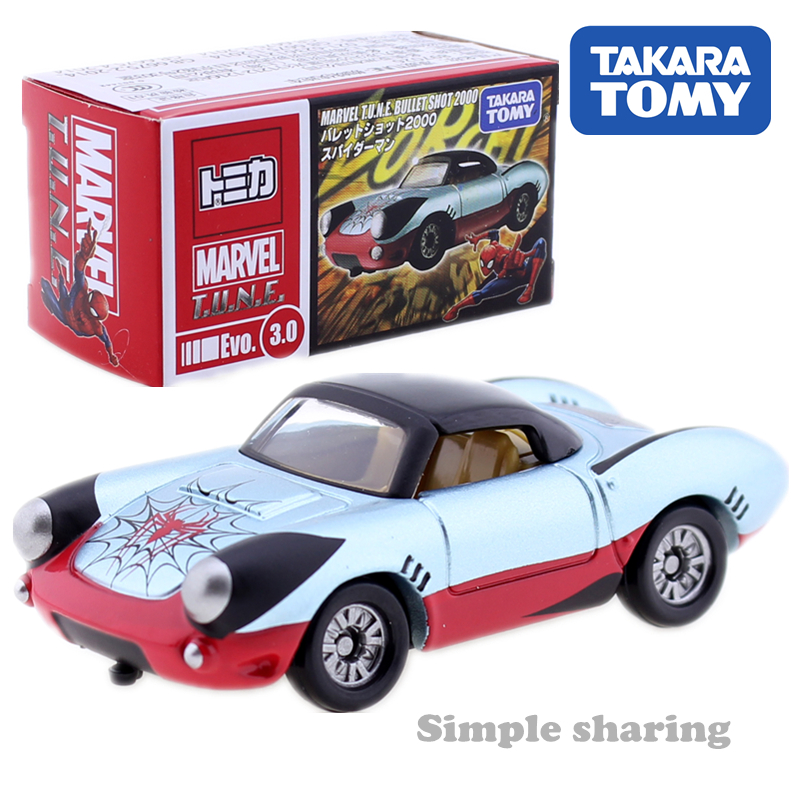 Takara Tomy Tomica Marvel Series T.N.U.E. Superman Iron Man Captain America  The Avengers  Diecast Miniature Model Car Model Kit