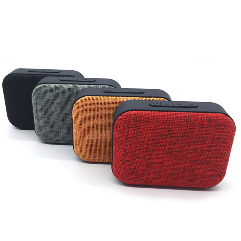 Elivebuy Cloth Mini Bluetooth Speakers USB TF Home Outdoor Wireless Sound Receiver FM Radio loudspeaker With Mic