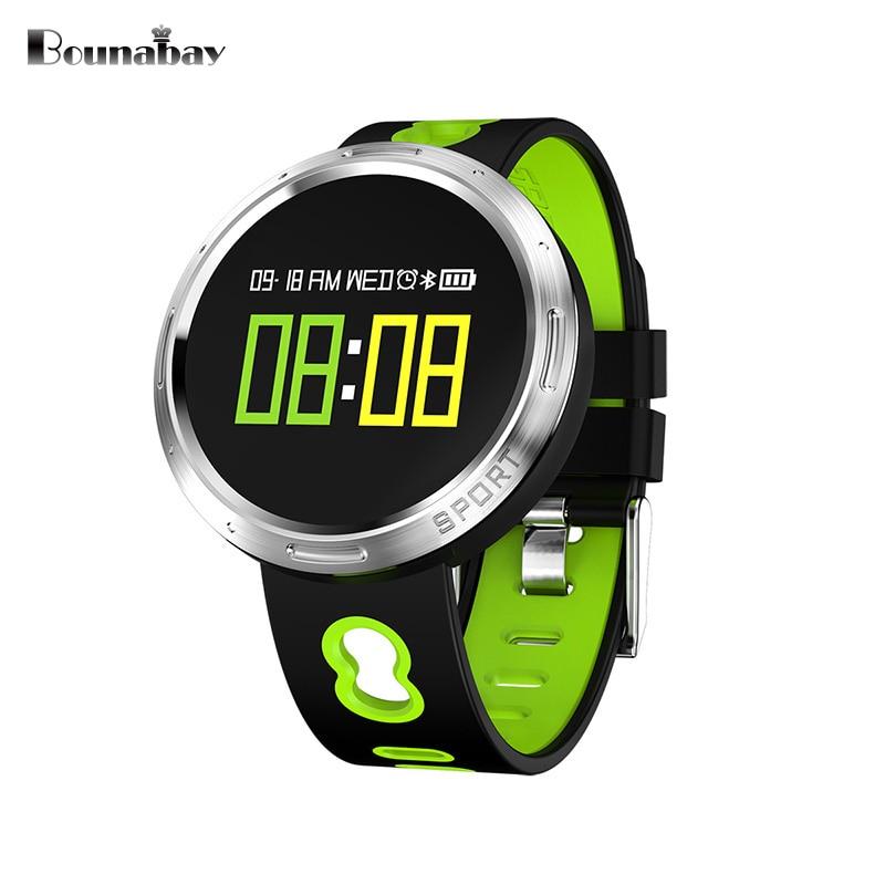 Bounabay сердечного ритма шагомер Bluetooth4.0 женщина Смарт часы для Apple телефона Android женские водонепроницаемые часы touch 3 г Часы
