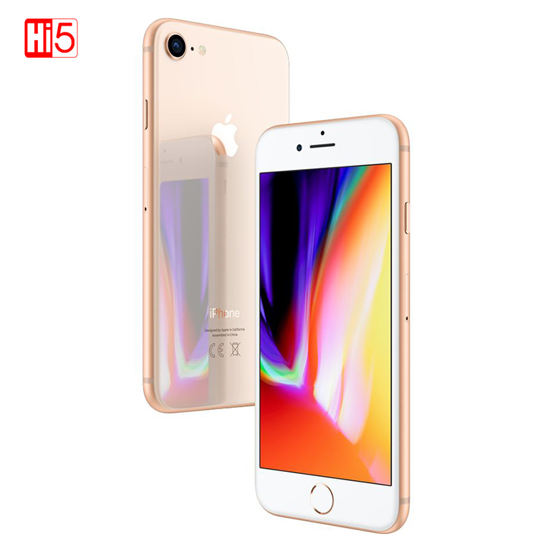 Original Unlocked Apple Iphone 8 2GB RAM 64GB/256GB ROM Looks Like New 4.7 Inches Hexa Core Touch ID LTE 12.0M Free Gift Phone