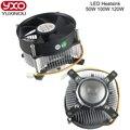 Caliente 20 W 30 W 50 w 100 w led de alta potencia DC 12 V llevó el ventilador de refrigeración del disipador de calor led bombilla LED de alta potencia del radiador