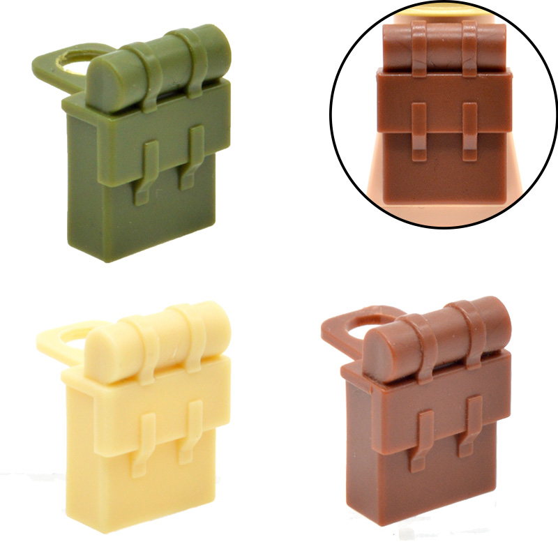 10pcs/lot WW2 Backpacks MOC Military Part Building Blocks Bricks Knapsack Toys for Children