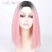 Мисс парик Розовый Ombre Черный Блондинки синий, серый парик длинные прямые волосы короткие Perruques для черные женские Synthétique Perruques 15 Цвета 230 г