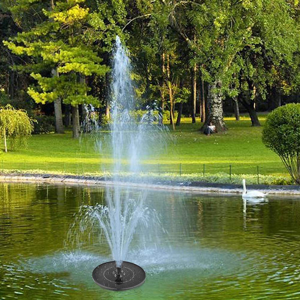 Image 2 - 2,4 Вт 17,6 см светодиодный комплект для полива фонтанов солнечной энергии насос для бассейна пруд погружной водопад плавающая солнечная панель фонтан для воды-in Фонтанчики и поилки для птиц from Дом и животные