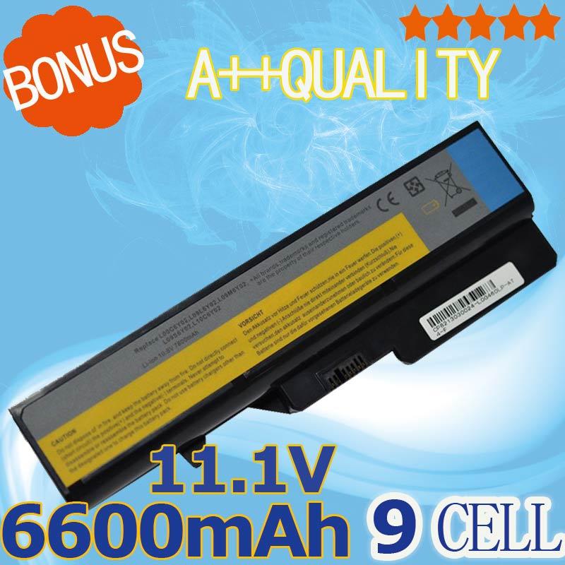 6600 мАч 11.1 В Батарея для <font><b>Lenovo</b></font> IdeaPad G460 G560 V360 V370 V470 B470 G460A G560 Z460 Z465 Z560 Z565 <font><b>z570</b></font> LO9S6Y02 LO9L6Y02