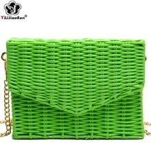 Fashion Women Summer Beach Bag Rattan Famous Brand Handmade Woven Bags for Small Bohemia Shoulder Female Borsa Mare