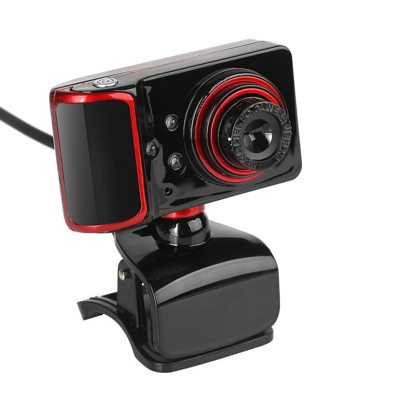Высокое разрешение S10 16 м Pixel HD 640*480 3 LED Вращающаяся веб-камера USB Камера с микрофоном Микрофон веб-Камера для PC ноутбук