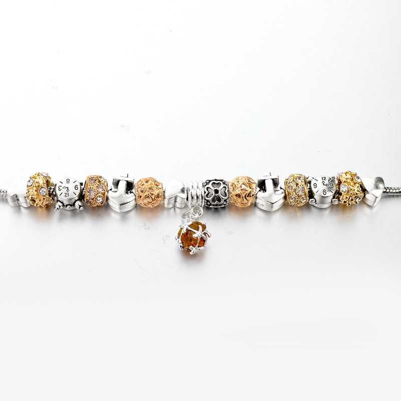 ... CHICVIE Yellow Crystal Alarm Clock Charm Bracelets Bangle For Women  Silver Stainless Steel Jewelry Adjustable Bracelet ... 0b5476b43ccd