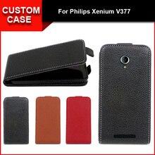 Роскошные Флип Вертикальный чехол сумка флип вверх и вниз PU кожаный чехол для Philips Xenium V377, бесплатный подарок