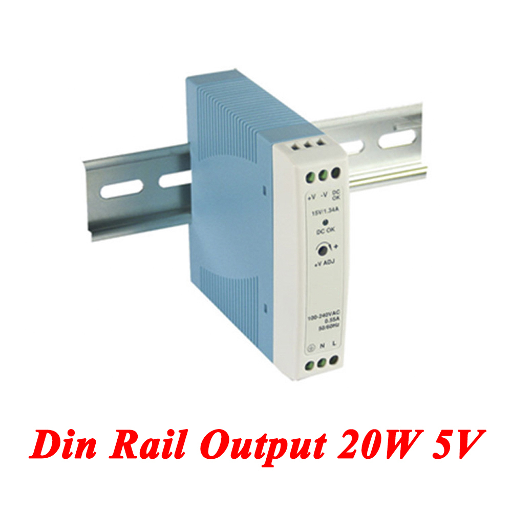 MDR-20 Din Rail Power Supply 20W 5V 3A,Switching Power Supply AC 110v/220v Transformer To DC 5v,watt power supply 5v 12v 15v 24v mini din rail 20w auto indutrial switching power supply ac to dc high quality mdr 20