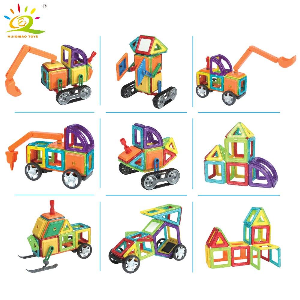 162 pièces aimant jouets blocs de Construction magnétique ensemble de Construction Designer enfants bricolage éclairer briques jouets éducatifs jeux pour enfant