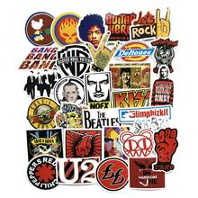 52pc/Lot Graffiti Europe Rock Hip Hop Style Stickers For Luggage Suitcase Skateboard Motor Pegatinas Adesivi Waterproof Stickers(China)